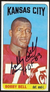 autographed 1965 topps bobby bell