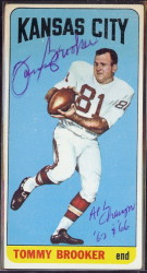 autographed 1965 topps tommy brooker