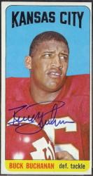 autographed 1965 topps buck buchanan