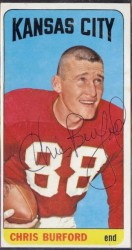 autographed 1965 topps chris burford