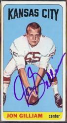 autographed 1965 topps jon gilliam