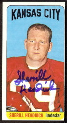 autographed 1965 topps sherrill headrick