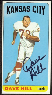 autographed 1965 topps dave hill
