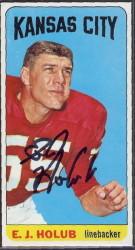 autographed 1965 topps ej holub