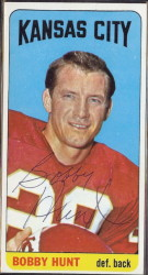 autographed 1965 topps bobby hunt