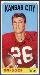 autographed 1965 topps frank jackson