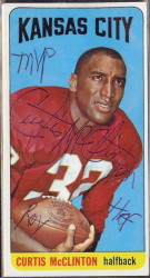 autographed 1965 topps curtis mcclinton