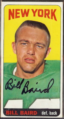 autographed 1965 topps bill baird