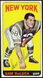 autographed 1965 topps sam deluca