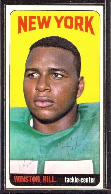 autographed 1965 topps winston hill