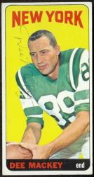 autographed 1965 topps dee mackey