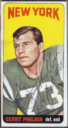 autographed 1965 topps gerry philbin