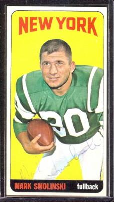 autographed 1965 topps mark smolinski