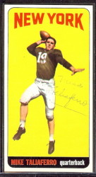 autographed 1965 topps mike taliaferro