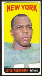 autographed 1965 topps clyde washington