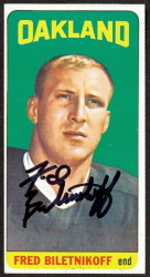 autographed 1965 topps fred biletnikoff