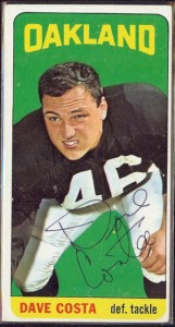autographed 1965 topps dave costa