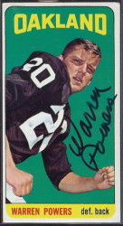 autographed 1965 topps warren powers
