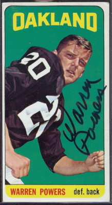 autographed 1965 topps warren powers