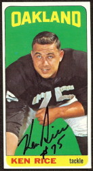 autographed 1965 topps ken rice