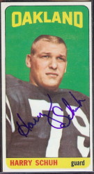autographed 1965 topps harry schuh