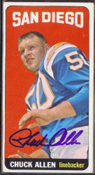 autographed 1965 topps chuck allen