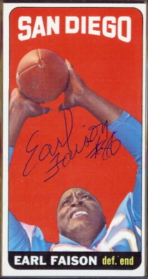 autographed 1965 topps earl faison