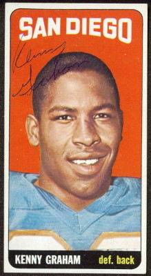 autographed 1965 topps kenny graham