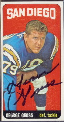 autographed 1965 topps george gross