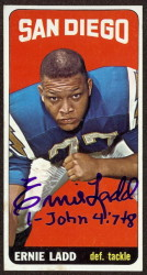 autographed 1965 topps ernie ladd