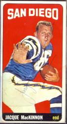 autographed 1965 topps jacque mackinnon