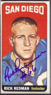 autographed 1965 topps rick redman