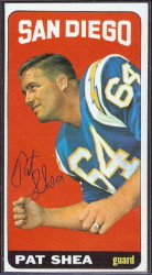 autographed 1965 topps pat shea