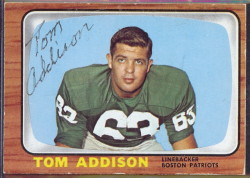 autographed 1966 topps tom addison