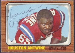 autographed 1966 topps houston antwine