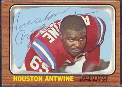 autographed 1966 topps houston antwine