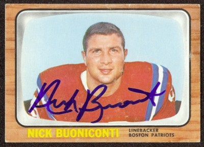 autographed 1966 topps nick buoniconti