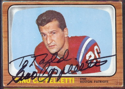 autographed 1966 topps gino cappelletti