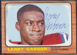 autographed 1966 topps larry garron
