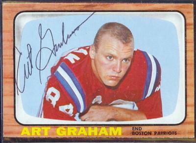 autographed 1966 topps art graham