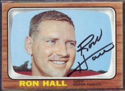autographed 1966 topps ron hall