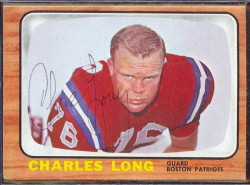 autographed 1966 topps charles long