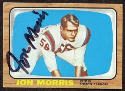 autographed 1966 topps jon morris