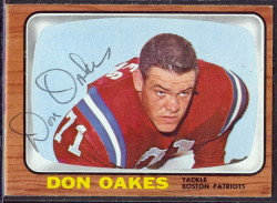 autographed 1966 topps don oakes