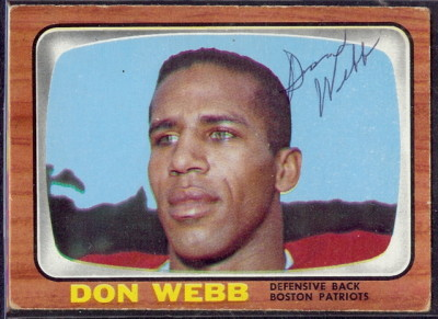 autographed 1966 topps don webb