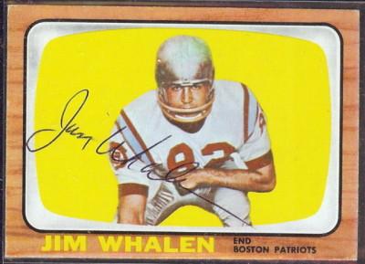 autographed 1966 topps jim whalen