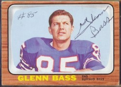 autographed 1966 topps glenn bass