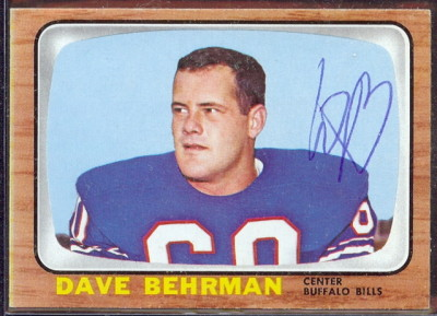 autographed 1966 topps dave behrman