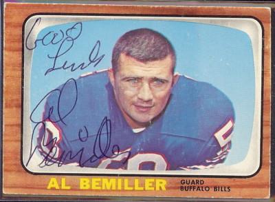 autographed 1966 topps al bemiller