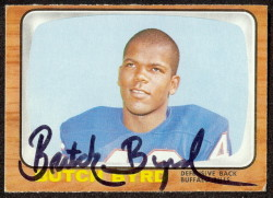 autographed 1966 topps butch byrd